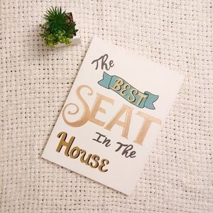 "Wall Art - ""Best Seat in the House"" Bathroom Canvas Art"